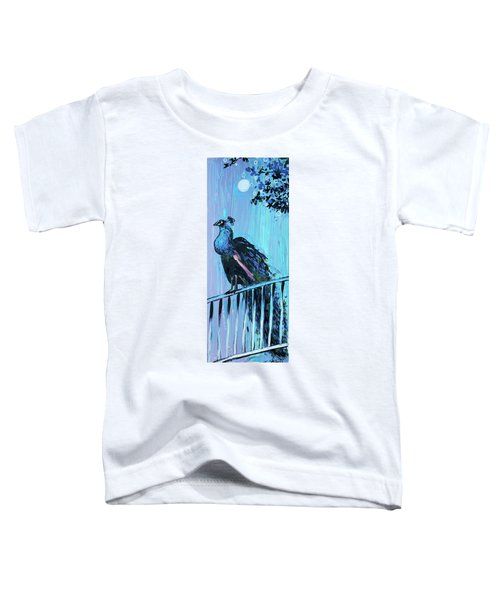 Peacock On A Fence Toddler T-Shirt