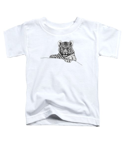 Peeking Tiger Cub Toddler T-Shirt