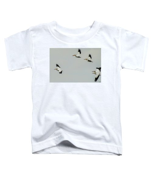 Pelicans In Flight Toddler T-Shirt