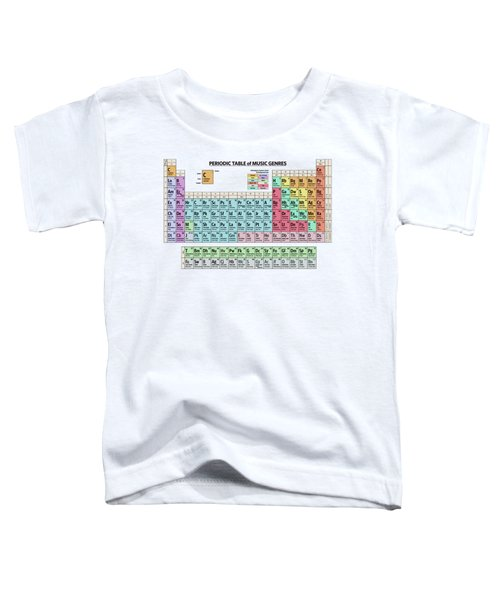 Periodic Table Of Music Genres Toddler T-Shirt