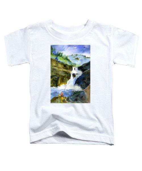 Petroglyph Falls Fishing Toddler T-Shirt