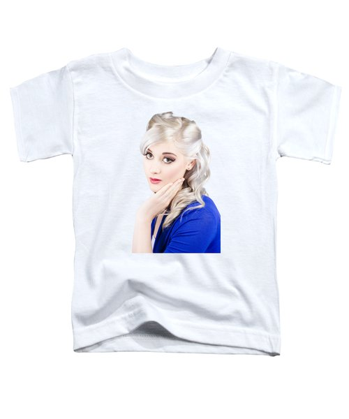 Pin Up Girl With Soft Clean Skin Toddler T-Shirt