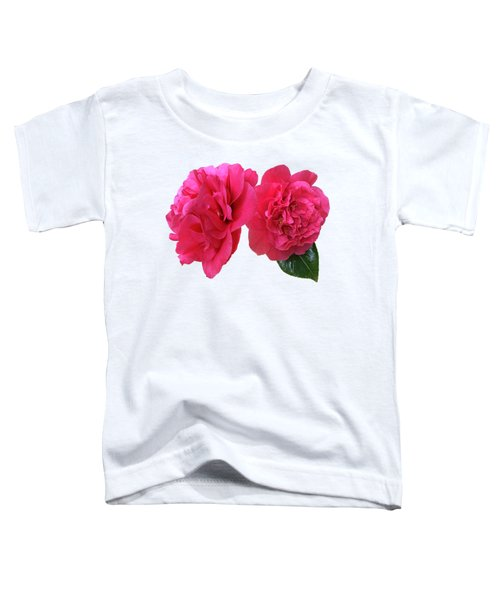 Pink Camellias On White Toddler T-Shirt