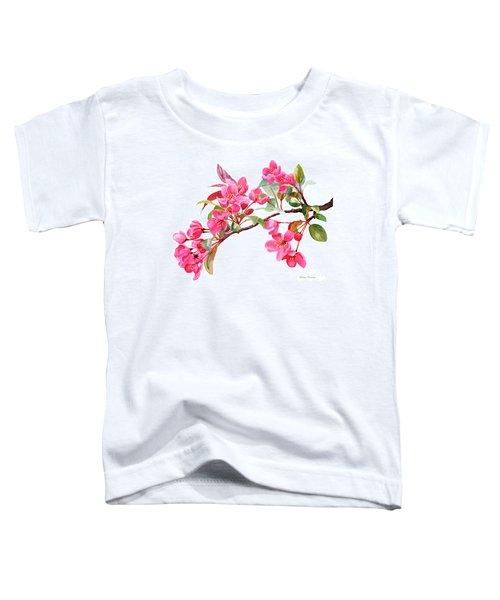 Pink Flowering Tree Blossoms Toddler T-Shirt