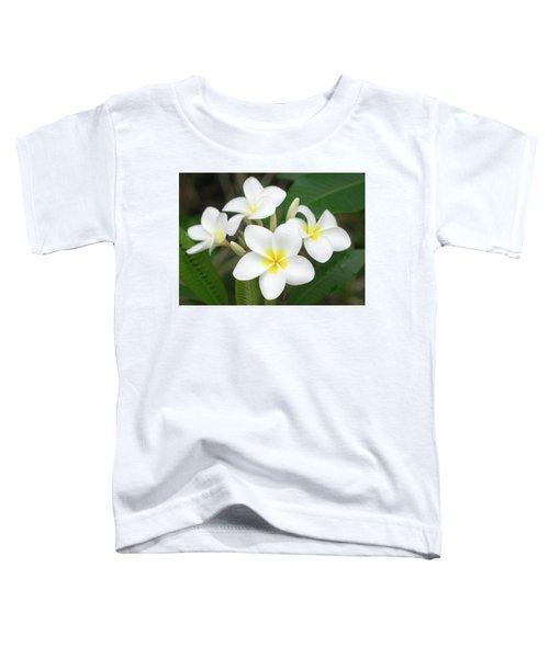 Pleasing Plumeria Toddler T-Shirt