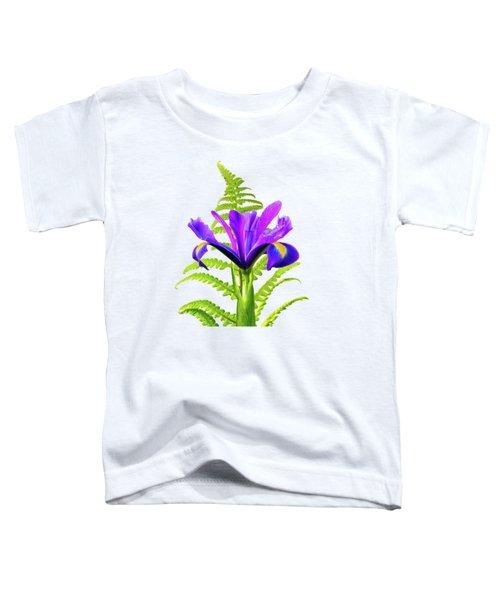 Purple And Blue Iris Toddler T-Shirt