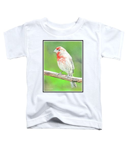 Purple Finch, Animal Portrait Toddler T-Shirt