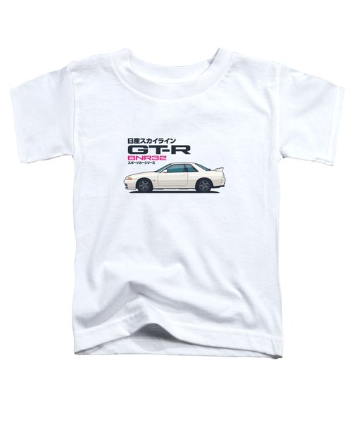 R32 Gt-r - Landscape White Toddler T-Shirt