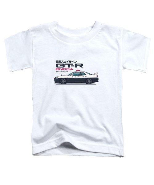 R34 Gt-r - Landscape Police Toddler T-Shirt