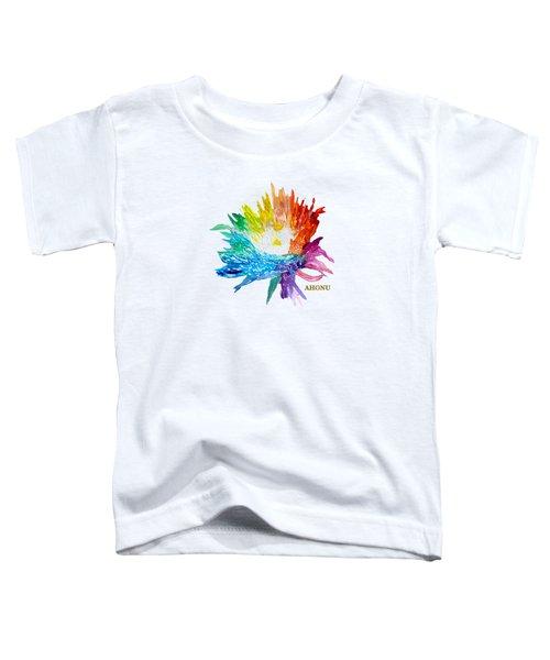 Rainbow Chrysanthemum Toddler T-Shirt