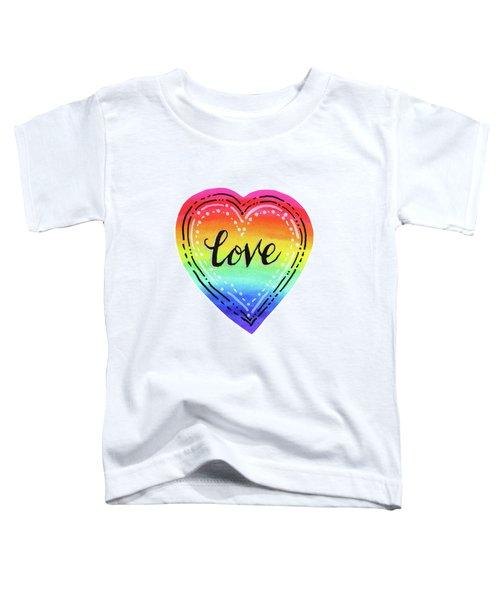 Rainbow Heart Love Toddler T-Shirt