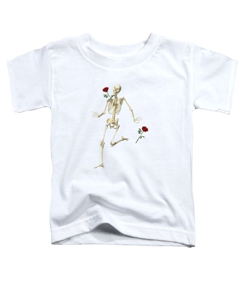 Rambling Rose Running Skeleton Toddler T-Shirt