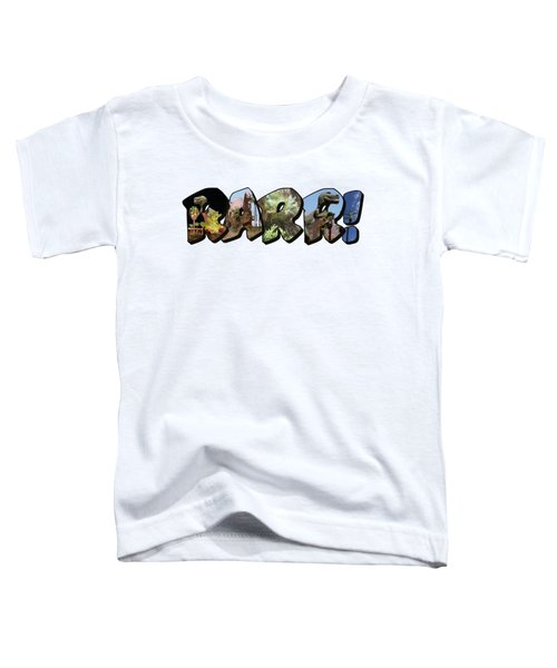 Rarr Big Letter Dinosaurs Toddler T-Shirt