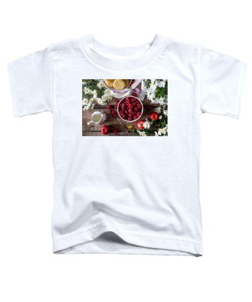 Raspberry Breakfast Toddler T-Shirt