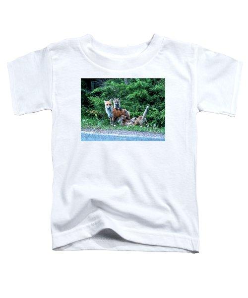 Red Fox Family Toddler T-Shirt