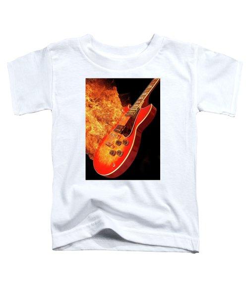 Red Hot Guitar Toddler T-Shirt