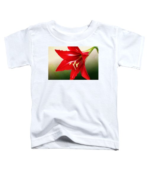 Red Lily Flower Toddler T-Shirt