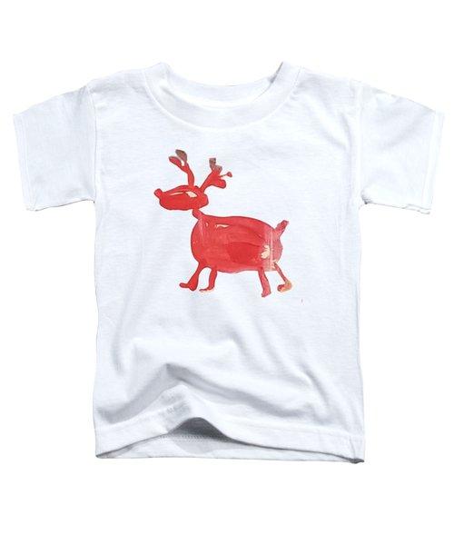 Red Reindeer Toddler T-Shirt