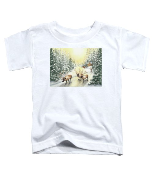 Hoofing It Under The Midnight Sun Toddler T-Shirt