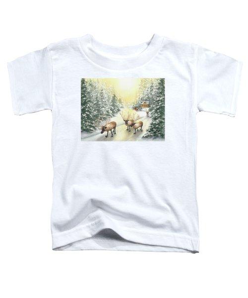 Hoofing It Under The Midnight Sun Toddler T-Shirt