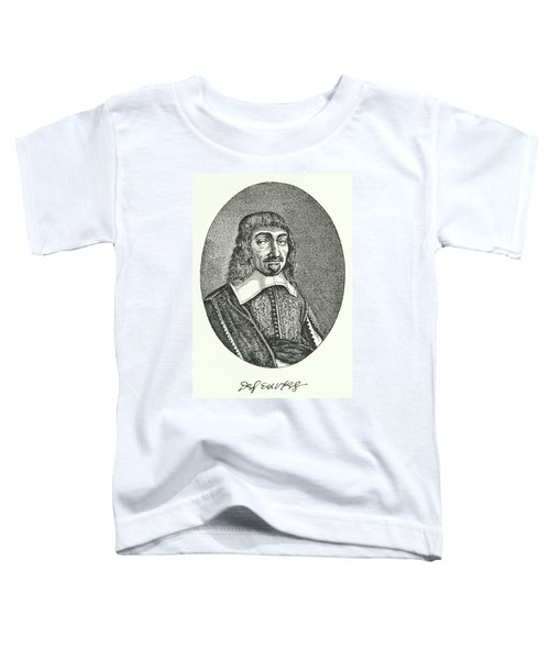 Rene Descartes, French Philosopher Engraving  Toddler T-Shirt