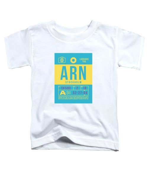 Retro Airline Luggage Tag 2.0 - Arn Stockholm Sweden Toddler T-Shirt