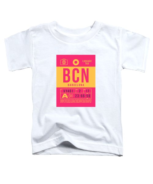 Retro Airline Luggage Tag 2.0 - Bcn Barcelona Spain Toddler T-Shirt