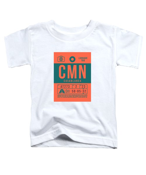 Retro Airline Luggage Tag 2.0 - Cmn Casablanca Morocco Toddler T-Shirt