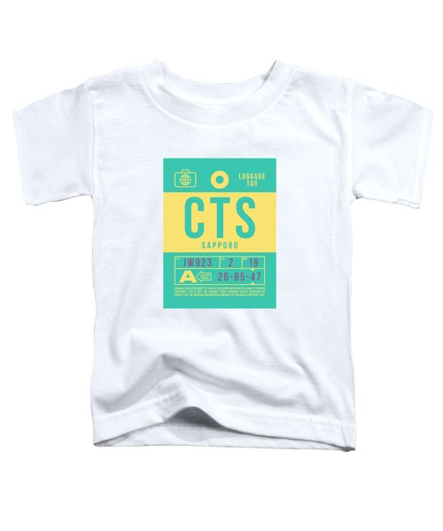 Retro Airline Luggage Tag 2.0 - Cts Sapporo Japan Toddler T-Shirt