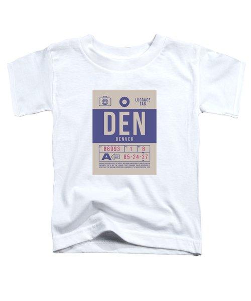 Retro Airline Luggage Tag 2.0 - Den Denver United States Toddler T-Shirt
