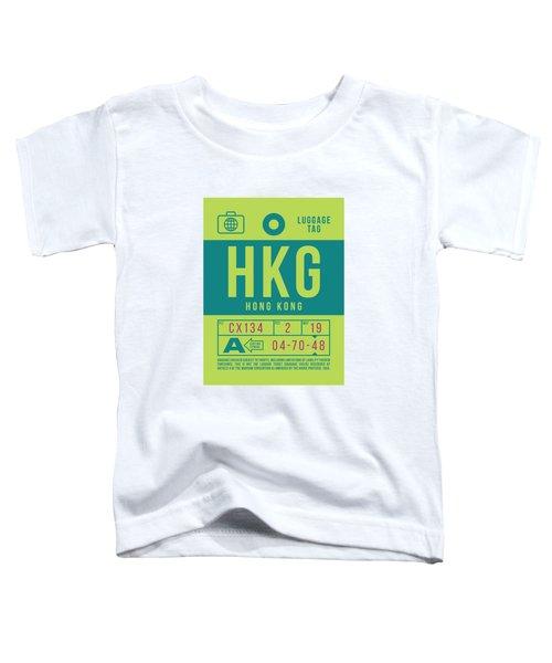 Retro Airline Luggage Tag 2.0 - Hkg Hong Kong Toddler T-Shirt