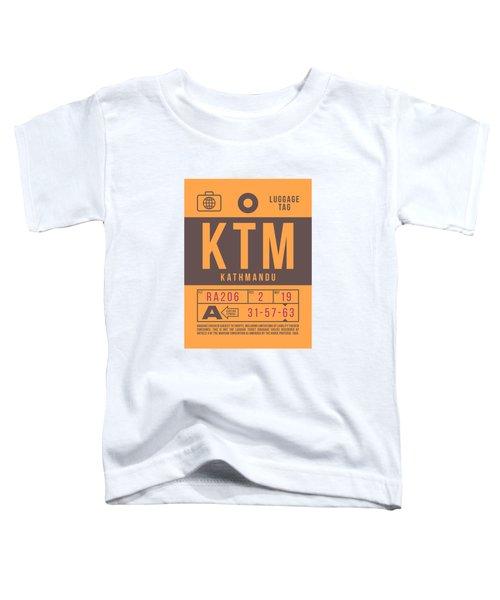 Retro Airline Luggage Tag 2.0 - Ktm Kathmandu Tribhuvan Nepal Toddler T-Shirt