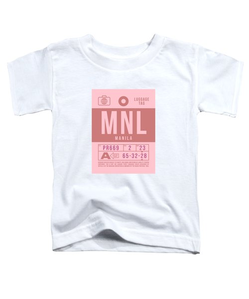 Retro Airline Luggage Tag 2.0 - Mnl Manila Aquino Airport Philippines Toddler T-Shirt