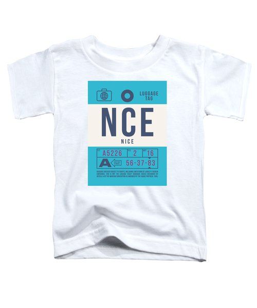 Retro Airline Luggage Tag 2.0 - Nce Nice Cote D'azur Airport France Toddler T-Shirt