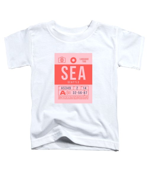 Retro Airline Luggage Tag 2.0 - Sea Seattle Tacoma Airport United States Toddler T-Shirt