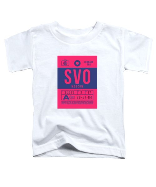 Retro Airline Luggage Tag 2.0 - Svo Moscow Sheremetyevo Airport Russia Toddler T-Shirt