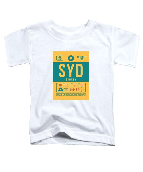 Retro Airline Luggage Tag 2.0 - Syd Sydney Kingsford Smith Airport Australia Toddler T-Shirt