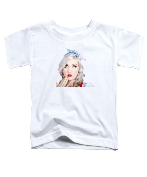Retro Style Portrait Of A Blond Girl With A Bow Toddler T-Shirt