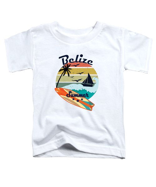 Retro Vintage Belize Gift Summer Vacation  Toddler T-Shirt