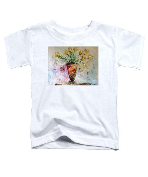 Roses In Vase Toddler T-Shirt