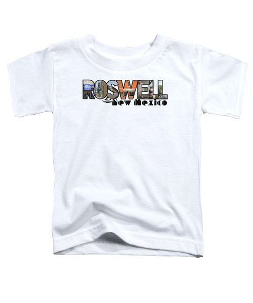 Roswell New Mexico Big Letter Travel Souvenir Toddler T-Shirt
