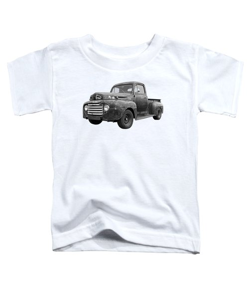 Rusty Ford Farm Truck Black And White Toddler T-Shirt
