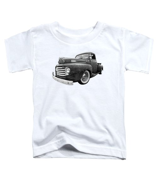 Rusty Jewel In Black And White - 1948 Ford Toddler T-Shirt