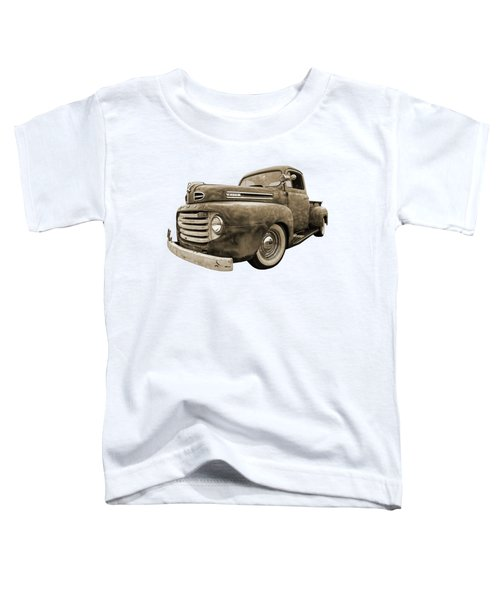 Rusty Jewel In Sepia - 1948 Ford Toddler T-Shirt