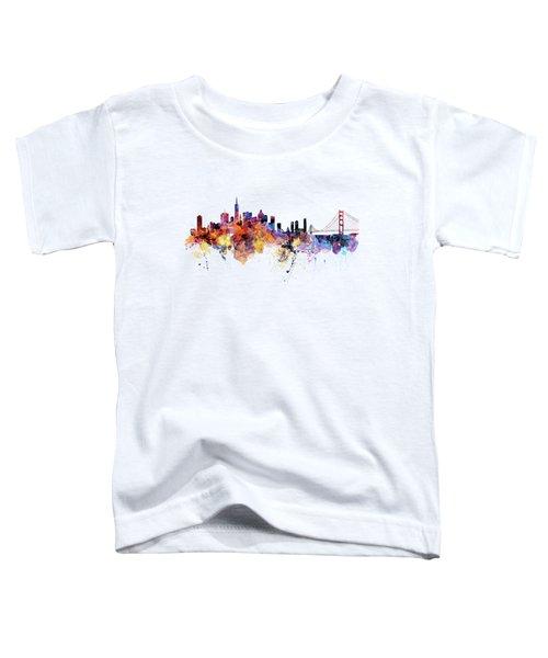 San Francisco Watercolor Skyline Toddler T-Shirt