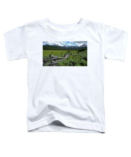 Sawtooth Range And 1975 Pole Fence Toddler T-Shirt