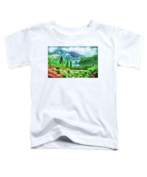 Scenic Mountain Lake Toddler T-Shirt