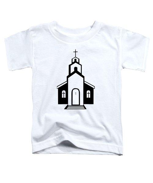 Silhouette Of A Christian Church Toddler T-Shirt