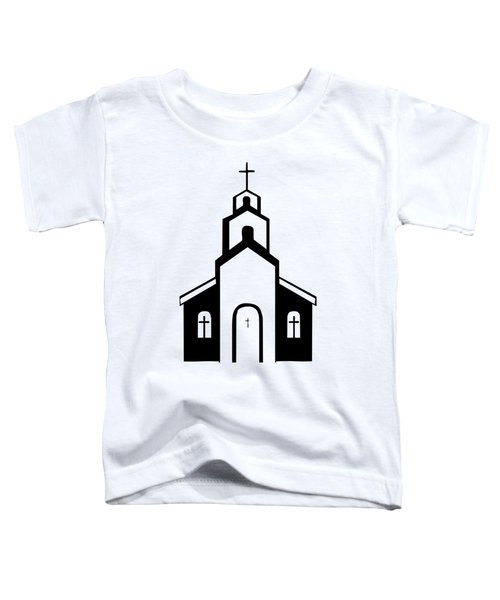 Silhouette Of A Christian Church Toddler T-Shirt