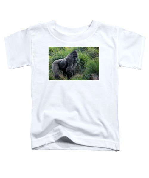 Toddler T-Shirt featuring the photograph Silverback Stare 1806 by Donald Brown